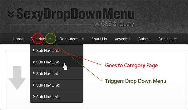Sexy Drop Down Menu w/ jQuery & CSS