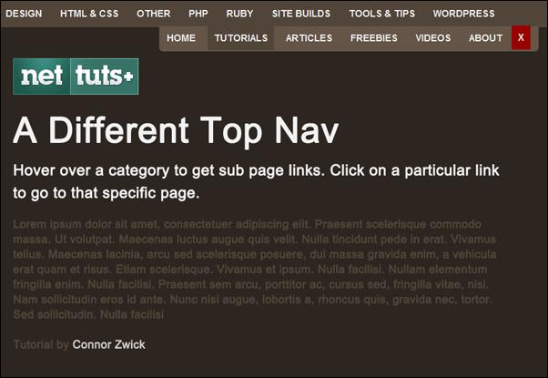 A Different Top Navigation