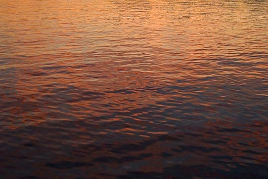 Sunset water